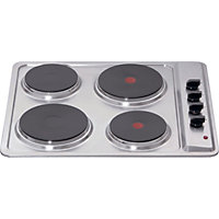 Matrix Stainless Steel Four Plate Electric Hob - MHE001SS