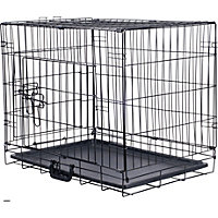Pet Cage and Mat Small New Size - Black.