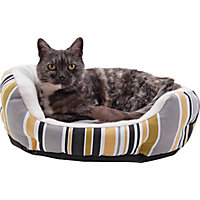 Canvas Pet Bed Coloured Stripe.