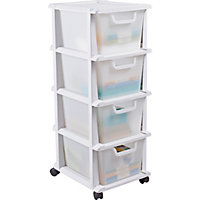 Keter 4 Drawer Tower Storage Unit Whit