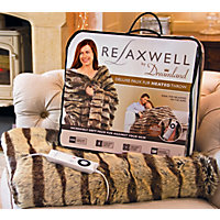 Relaxwell by Dreamland Deluxe Faux Fur Heated Throw