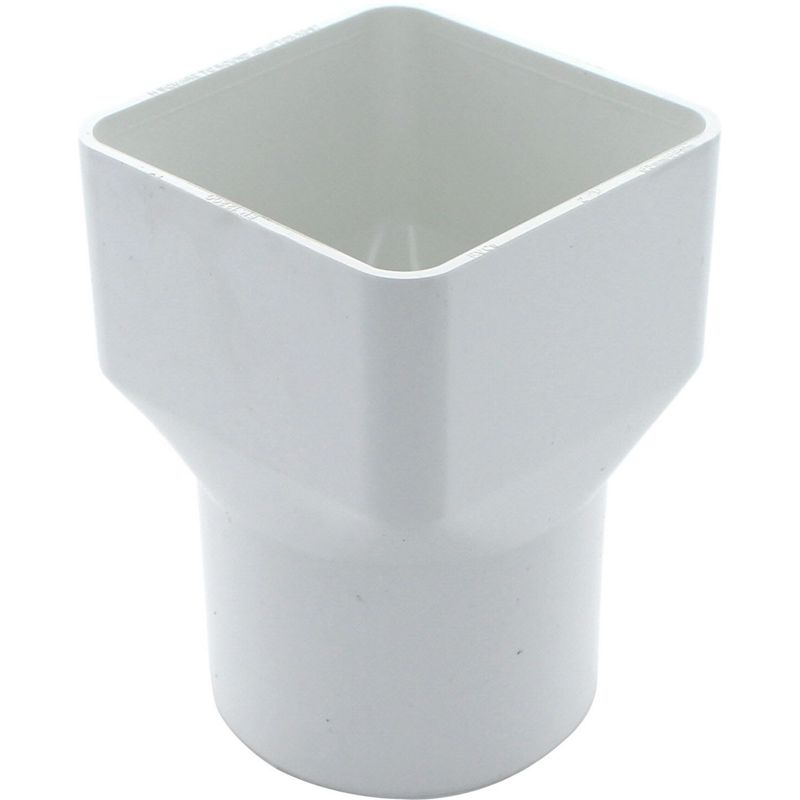 Squareflo Square to Round Adaptor – White – 100 x 71 x 71mm