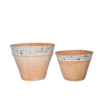 Image for Falmouth Glazed Moziac Plant Pot - 37cm from StoreName