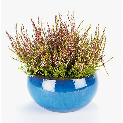 Image for Boscastle Blue Glazed Plant Pot - 22cm from StoreName