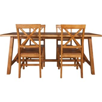 Wooden dining room chairs for Dining room tables homebase