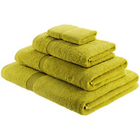 Habitat Egyptian Cotton Saffron Green Face Cloth
