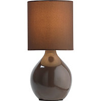 ColourMatch Ceramic Table Lamp - Chocola