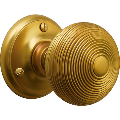 Image for Laura Ashley Reeded Mortice Knob - Antique Brass from StoreName