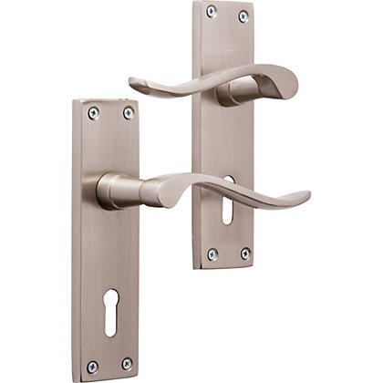 Image for Brooklyn Lever Lock - Brushed Nickel from StoreName