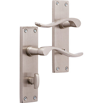 Image for Brooklyn Lever WC Lock - Brushed Nickel from StoreName