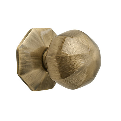 Image for Octagonal Knob 38mm - Antique Brass from StoreName