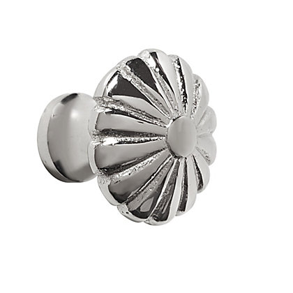Image for Solid Flower Knob - Polished Nickel from StoreName
