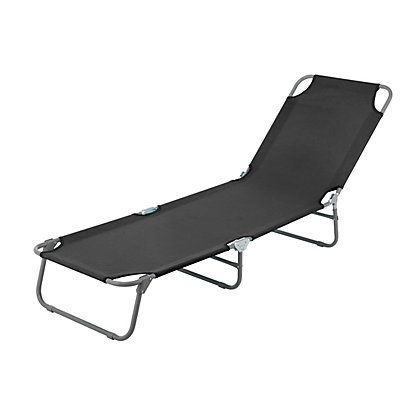Image for Black Metal Sun Lounger from StoreName