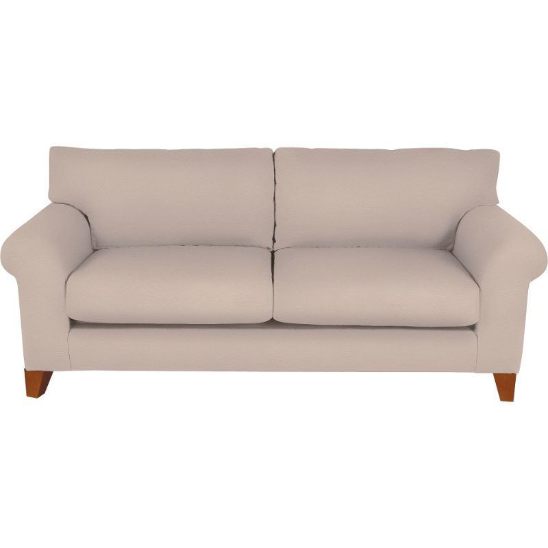 whittlebury large sofa taupe leather light feet