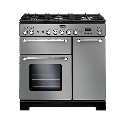 Image for Rangemaster Kitchener 90cm Dual Fuel Range Cooker - Stainless Steel from StoreName