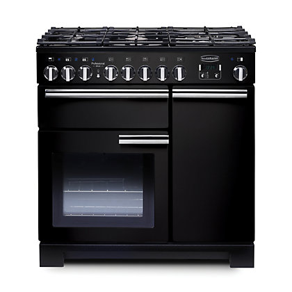 Image for Rangemaster Professional Deluxe 90cm Dual Fuel Range Cooker - Black from StoreName