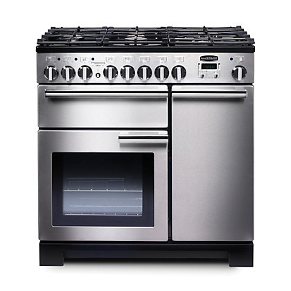 Image for Rangemaster 97590 Professional Deluxe 90cm Dual Fuel Range Cooker - Silver from StoreName