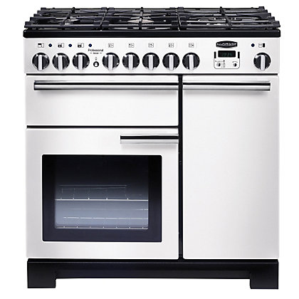 Image for Rangemaster Professional Deluxe 90cm Dual Fuel Range Cooker - White from StoreName