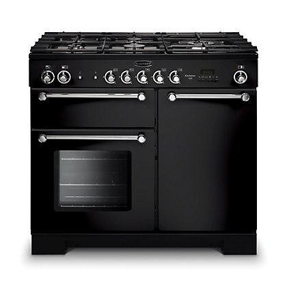 Image for Rangemaster 98790 Kitchener 100cm Dual Fuel Range Cooker - Black from StoreName