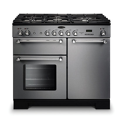 Image for Rangemaster Kitchener 100cm Dual Fuel Range Cooker - Silver from StoreName
