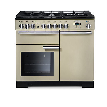 Image for Rangemaster Professional Deluxe 100cm Dual Fuel Range Cooker - Cream from StoreName