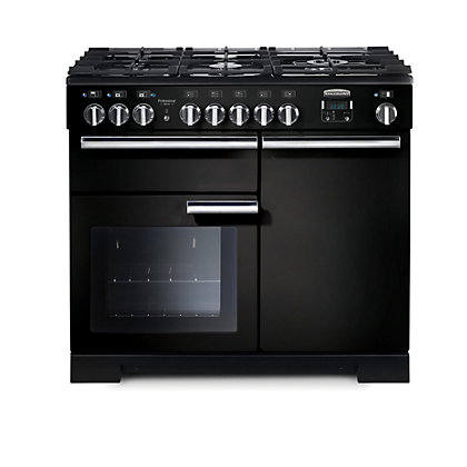 Image for Rangemaster Professional Deluxe 100cm Dual Fuel Range Cooker - Black from StoreName