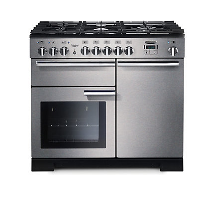 Image for Rangemaster Professional Deluxe 100cm Dual Fuel Range Cooker - Silver from StoreName