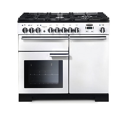 Image for Rangemaster Professional Deluxe 100cm Dual Fuel Range Cooker - White from StoreName