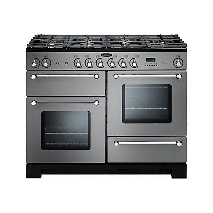 Image for Rangemaster Kitchener 110cm Dual Fuel Range Cooker - Stainless Steel from StoreName