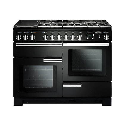 Image for Rangemaster Professional Deluxe 110cm Dual Fuel Range Cooker - Grey from StoreName