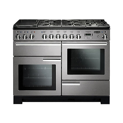 Image for Rangemaster Professional Deluxe 110cm Dual Fuel Range Cooker - Silver from StoreName