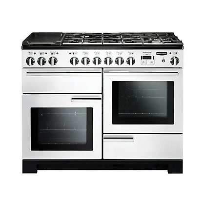Image for Rangemaster Professional Deluxe 110 Dual Fuel Range Cooker - White from StoreName