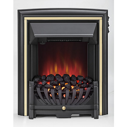 Image for Daytona SE Electric Inset Fire - Black from StoreName