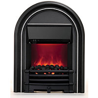 Priory Electric Inset Fire - Black