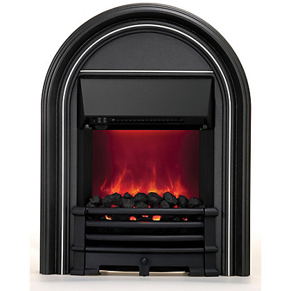 Image for Priory Electric Inset Fire - Black from StoreName