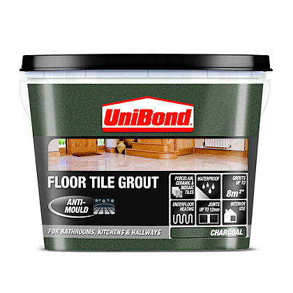Unibond Ready Mixed Floor Grout Charcoal Grey 375kg