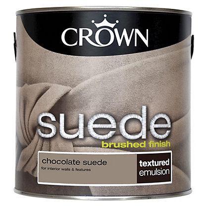 Image for Crown Fashion For Walls Chocolate - Suede Matt Emulsion Paint - 2.5L from StoreName