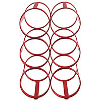 Habitat Caden 6-Bottle Wine Rack - Red