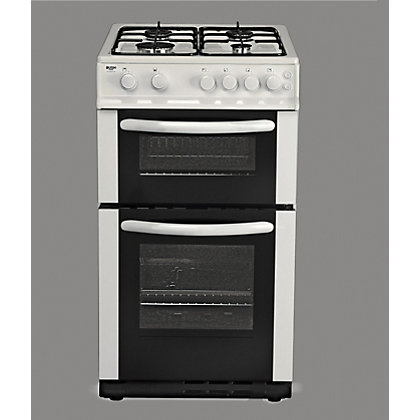 Image for Bush AG56TW Twin Gas Cooker- White/Exp Del. from StoreName
