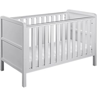 Curve Nursery Cot Bed White