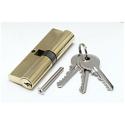 Image for PVCu Lock Cylinder - Brass from StoreName