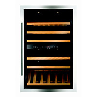 CDA FWV901SS 90cm Integrated Wine Cooler - Stainless Steel.