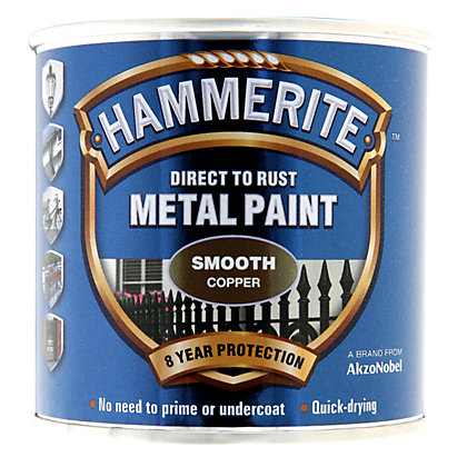 Image for Hammerite Copper - Exterior Smooth Metal Paint - 250ml from StoreName