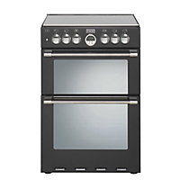 Stoves Sterling 600DF Dual Fuel Cooker - Black.