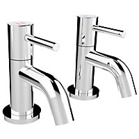 New Swan Neck Bath Taps - Chrome