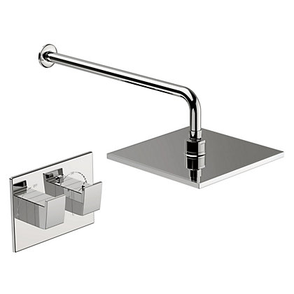 Image for Homebase New Waterfall Thermostatic Mixer Shower - Chrome from StoreName
