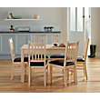 Cucina Extending Dining Table and 6 Chairs - Light Oak