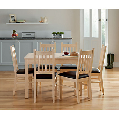 Image for Cucina Extending Dining Table and 6 Chairs - Light Oak from StoreName