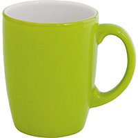 with this paintbox stoneware mug in green colour green material