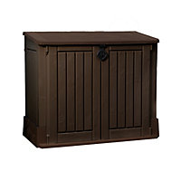 Keter Store it Out Woodland Midi Garden Storage - Brown / 845L